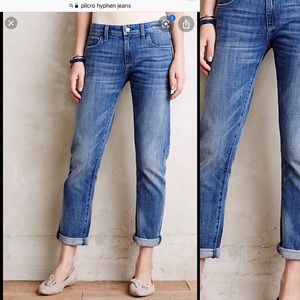 Pilcro Hyphen Relaxed Mid Rise Straight Leg Jeans